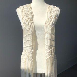H&M Coachella - Macrame Vest, long.